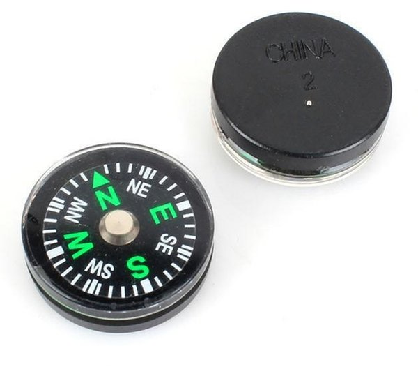 top popular 20mm Diameter Button Mini Compass Hiking & Camping Plastic Mini Button Size Compass Pocket Compass Outdoor Gadgets Sports 5000Pcs 2019