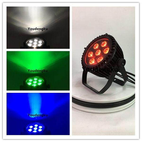 16 piezas a prueba de agua LED plana 7x10 vatios RGBW Slim Par Light dmx led par ip65