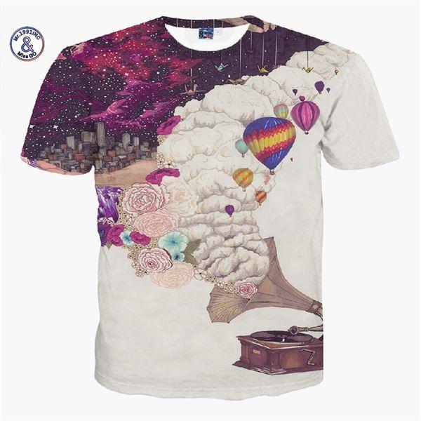 2017 Mr.1991INC&Miss.GO Summer New Men/Women Music Clouds Helium Balloon Flowers T-shirts Round neck Short sleeves Tee Top S-XXL