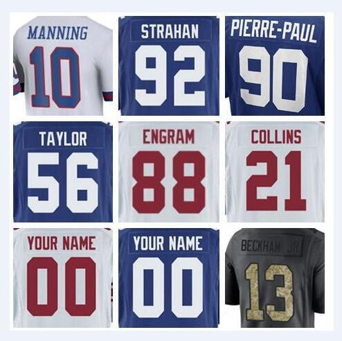 best service e91f8 590a5 2019 2018 New York Odell Beckham Jr Giants Jerseys Lawrence Taylor Brandon  Marshall Green Anthracite Olive Salute To Service American Jersey Kids From  ...