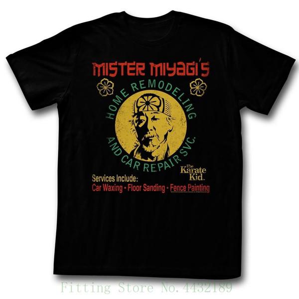 Karate Kid Remod Schwarz Herren Adult Kurzarm T-Shirt Fremde Dinge Design T-Shirt 2018 Neu
