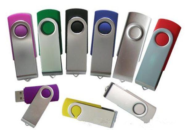 en gros logo personnalisé pivotant lecteur flash USB stylo 16 Go de mémoire avec capuchon argent