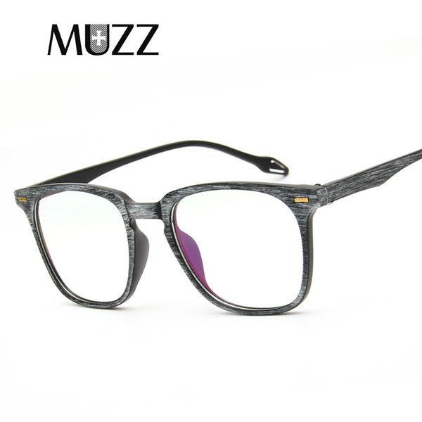 36d9072b0d MUZZ Eye Glasses Frame Clear Lens Optical Eyeglasses 2018 Fashion Imitation Wooden  Glasses Frames for Women Men TR90 Spectacl