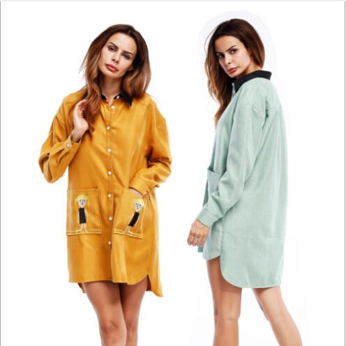 Summer wear women's clothing of new fund of autumn winters is Europe and the United States before the dress short after long shirt skir