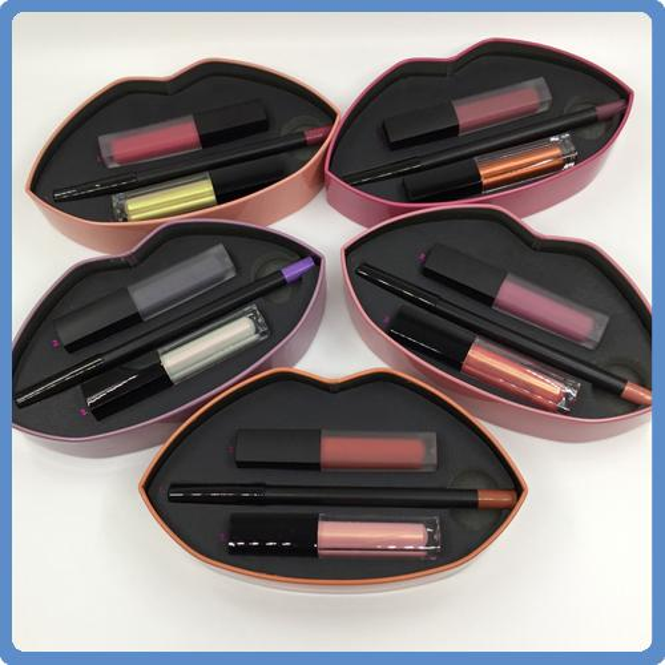 2017 Newest Beauty Matte Lip Contour and Strobe Lip Set Matte LIQUIFIED 5 different colors Lip Palette DHL free shipping