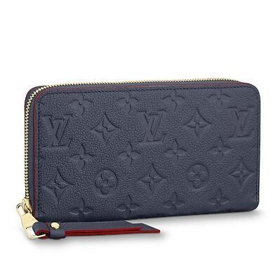 2019 M62121 ZIPPY WALLET Embossing navy blue Real Caviar Lambskin Chain Flap Bag LONG CHAIN WALLETS KEY CARD HOLDERS PURSE CLUTCHES EVENING
