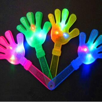 28см вспышка светодиодные люминесцентные хлопки в ладоши светящиеся товары для вечеринок свет хлопать рукой устройство светящиеся ладони праздничные атрибуты CCA10500 500шт