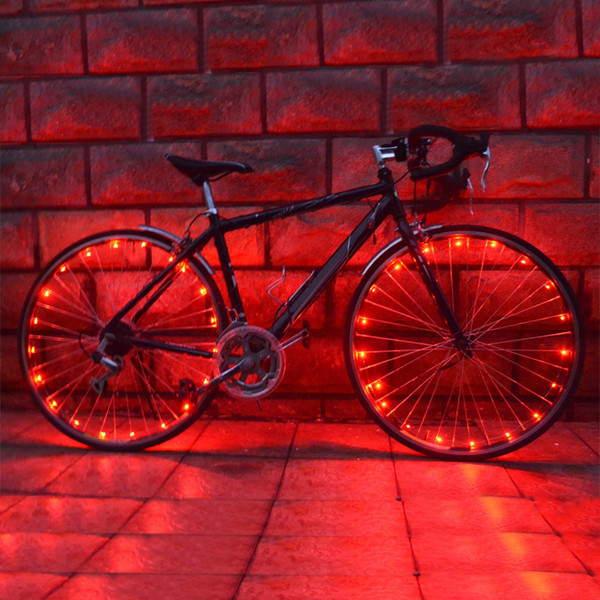 Wheelight A02 Ultra Bright LED Bicycle Wheel Spoke Light String Colorful Bike Tire Accessories 2.2m LED wheel light string