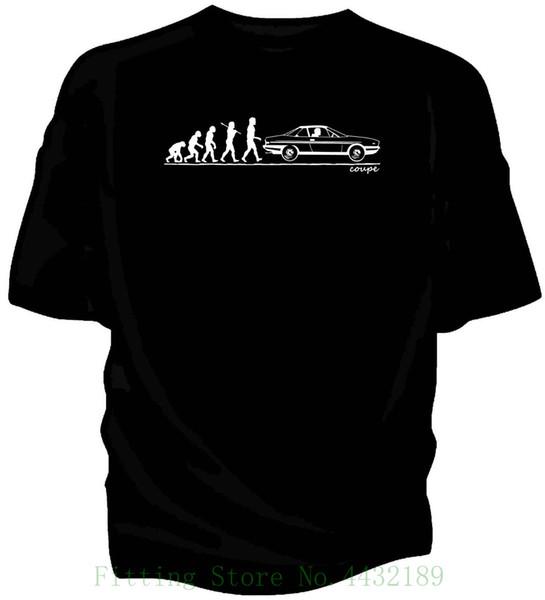 Evolution Of Man , Lancia Gamma Coupe 1976 Classic Car T Shirt. Men's T shirts Short Sleeve O neck Cotton