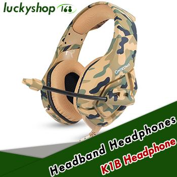 Camouflage PS4 Headset Bass Gaming Headphone Game Earphone Casque with Mic for PC Mobile Phone Xbox One Tablet K1b 30pcs