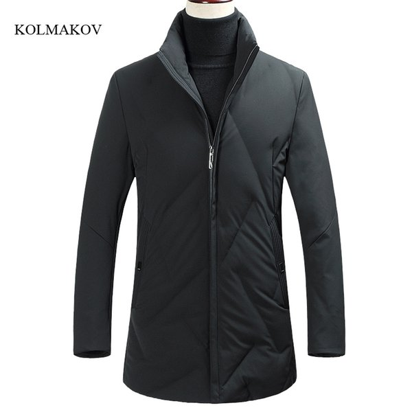2017 new arrival winter men boutique wam down coats business casual stand collar zippers solid jacket coat clothes size M-3XL