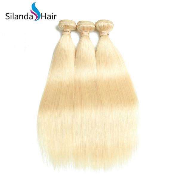 Silanda Hair Cheap Hot Sale Blonde #613 Brazilian Remy Human Hair Weave Straight Hair Weft 3 pcs per pack Free Shipping