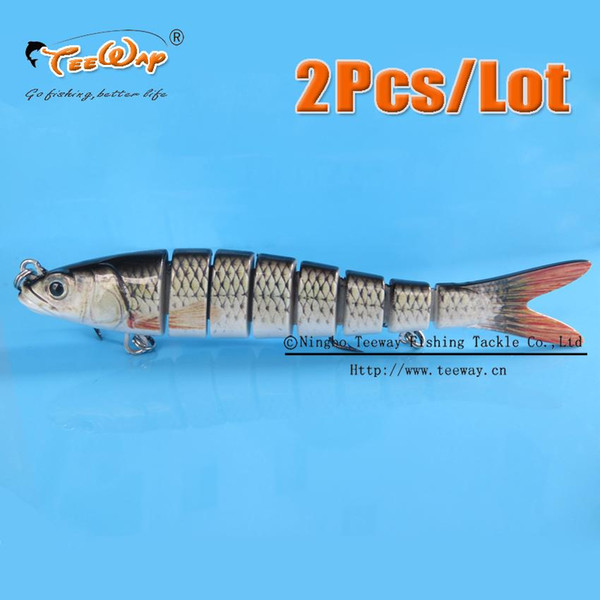 2Pcs/Lot Fishing Lure 8 Segment Swimbait Crankbait Hard Bait Slow 30g 14cm hook Fishing Tackle Bait Wobbler