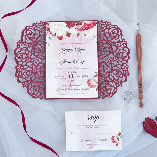 Color:Burgundy With RSVP