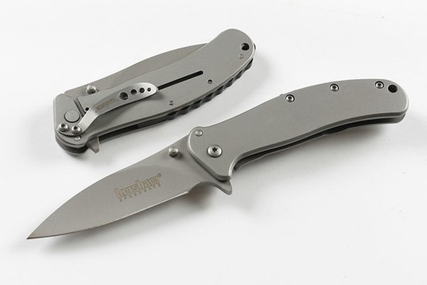 New Kershaw 1730SS Assisted Fast Open Folding Knife 8Cr13Mov Titanium Coated Blade Steel Handle EDC Pocket Knvies