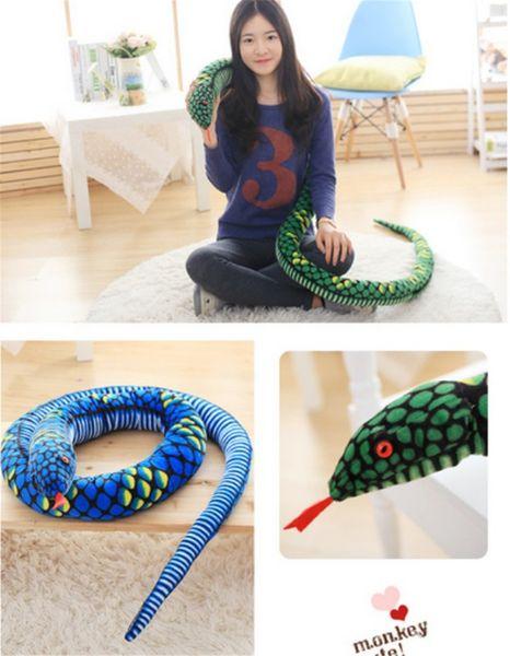2018 New Style Big Plush American Made Giant Stuffed Snake Soft Serpent Plush Doll