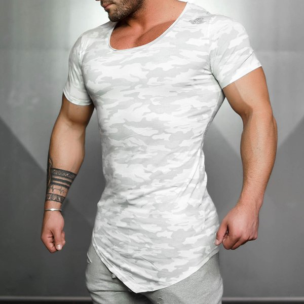 Hommes s Fitness T-shirts 2017 Mode Casual Rapide-séchage Respirant Pull Bodybuilding Gymnases Sweats Tops Vêtements