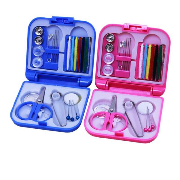 100pcs Portable Travel Sewing Kits Box Needle Threads Scissor Thimble Home Tools wa3015 20180920#