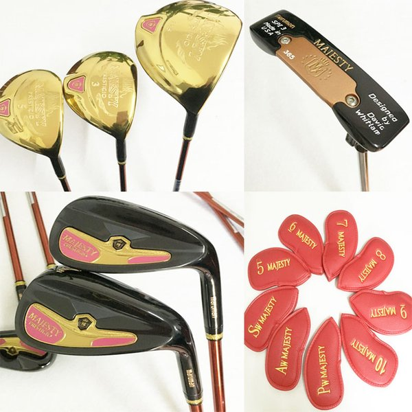 New womens Golf clubs Majesty Prestigio 9 Golf complete set of clubs driver+irons+putter graphite shaft cover Free shipping