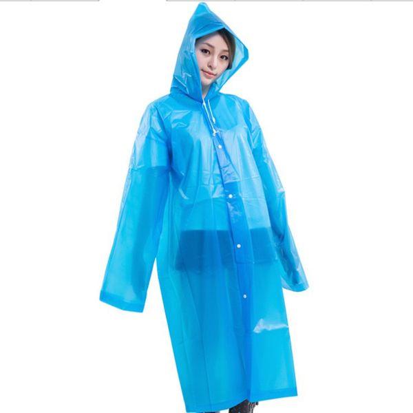 EVA Raincoats Poncho Rainwear Travel Rain Coat Rain Wear Hooded Outdoor Hiking Transparent Poncho Portable Raincoat Long Wind Coat
