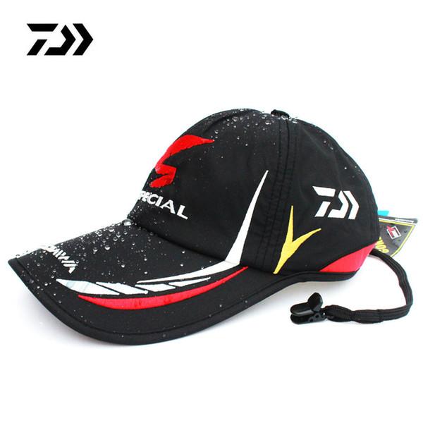 226c5182f3d04 Men Adjustable Breathable Fishing Daiwa Japan Sunshade Sport Baseball  Fishermen Hat Cap with Logo Black Special