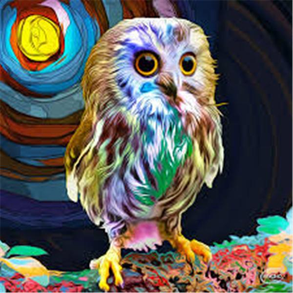 Diamond embroidery animal cute owl diy diamond painting cross stitch kit resin full round diamond mosaic home decoration gift yx3212