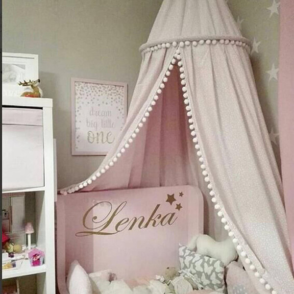 New style Kids Play Room Decor Kids Baby Princess Cute Bed Canopy Bed cover Mosquito Net Curtain Bedding Dome Tent 3 Color