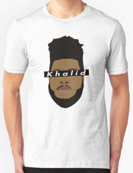 Nouveau KHALID Hommes taille T-shirt S-2XL 2018 Funny Tee T-shirts Mignons Homme 100% Coton Cool