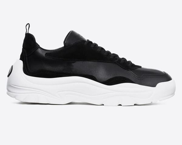 New Fashion luxury suede leather sneaker men women sport designer shoes top quality calfskin rubber sole italian shoes sale size 12