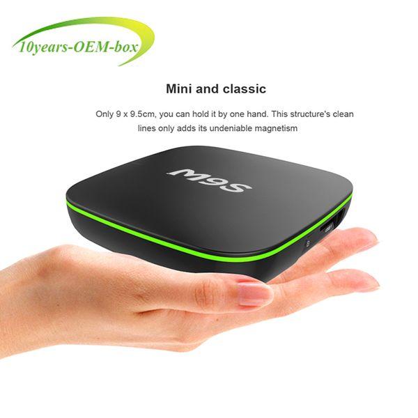 Android 7.1 Smart TV BOX M9S V6 3D 4K Quad Core TV Box 2GB/16GB Bluetooth WIFI LAN Media Player IPTV