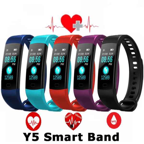 Slimy Pulsometer Fitness Smart Bracelet Y5 Smart Band Activity Tracker Pedometer Smart Watch Vibrating Alarm Clock For Iphone Samsung