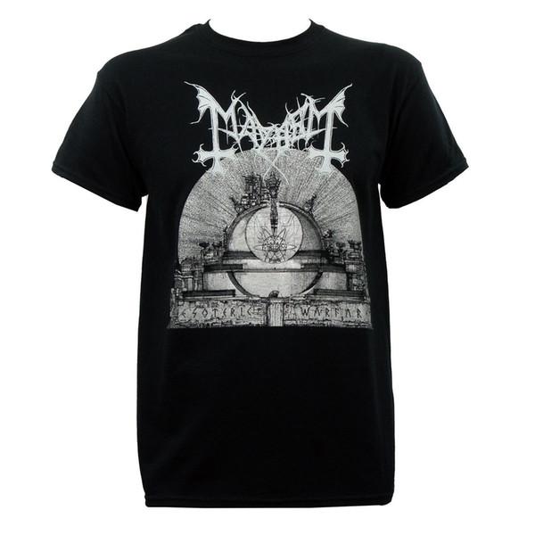 Authentische MAYHEM Band esoterische Kriegsführung Album Art T-Shirt S-3XL neue 100% Baumwolle kurzen Ärmeln T Shirts Top Tee Plus Größe