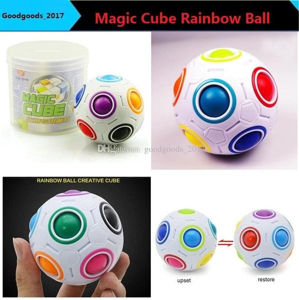 Grosshandel Kreative Fussball Regenbogen Ball Zauberwurfel Geschwindigkeit Spass Kugel Puzzles Kinder Padagogisches Lernspielzeug Fur Kinder Erwachsene