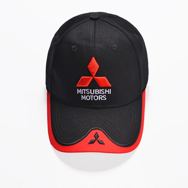 Für Männer und Frauen Snapback Englisch Brief 3D Mitsubishi Motors Trucker Hat Stickerei Vier Saison Universal Cap 13 5hq BB