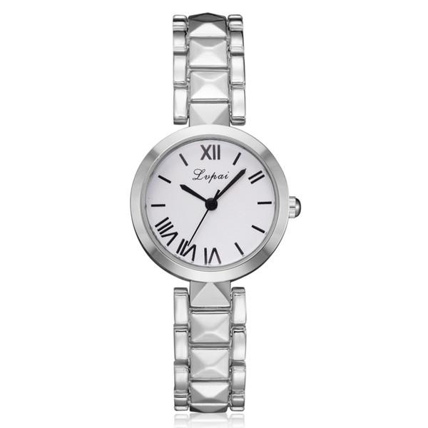 DHL Wholesale LVPAI Watch Women Quartz Wristwatch Clock Ladies Dress Gift Wristwatches for Girl Lady Relogio Desktop Clock P277