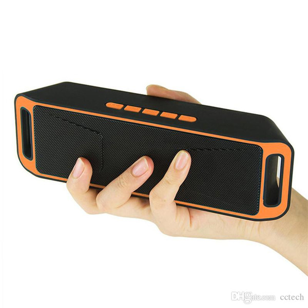 New Wireless Speaker SC208 with 4.0 Stereo Bluetooth Subwoofer Speakers TF card Radio Built-in Mic Dual Bass Sound Box