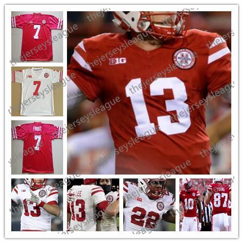 newest collection b5bec 56b35 2018 Nebraska Cornhuskers #7 Scott Frost 8 Stanley Morgan Jr. 10 JD  Spielman 22 Devine Ozigbo Red White Stitched NCAA College Football Jerseys  From ...