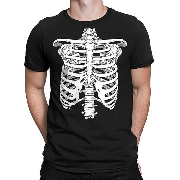 487bc2bd090 Shirt Shop Men'S O Neck Skeleton Ribcage Halloween Men'S T Shirt Short  Sleeve Fashion 2018 Tees Unique T Shirts Cheap T Shirts Online From  Amesion82, ...