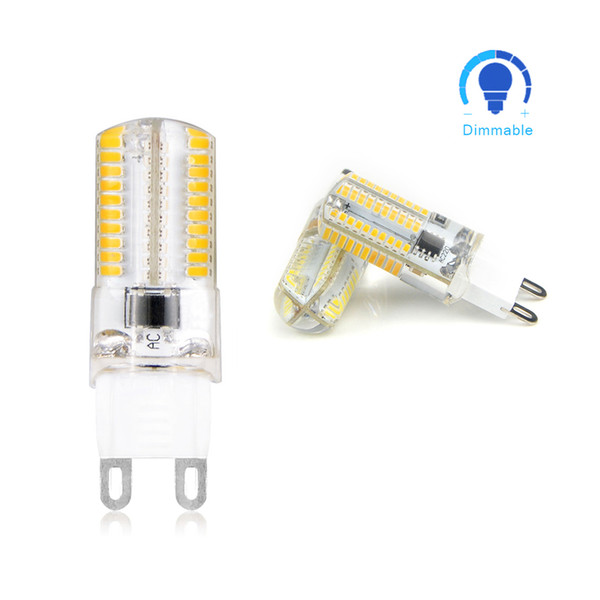 10pcs Dimmable 110V 220V G9 LED corn lamp 64 LEDs Spotlight Bulb Replace 20w 30W halogen lamp For Chandelier Candle Light