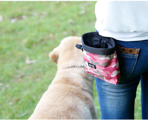 New Arrival Camouflage Pet Food Training Pouch Dog snack Puppy Walking Treat Snack Bag Dispenser Waist Storage Food Container Bag