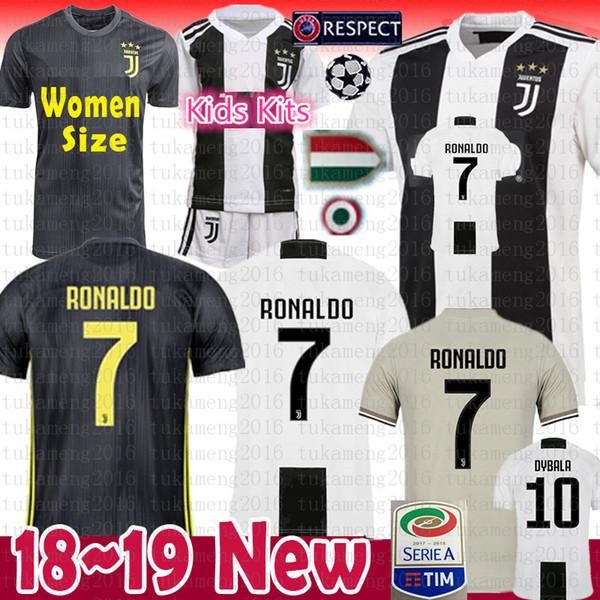 Men Women Youth RONALDO JUVENTUS Soccer Jersey Thai 18 19 7 JUVE CR7 9 Higuain 10 Dybala 11 Costa 17 Bernardesch 33 Football Shirt uniforms