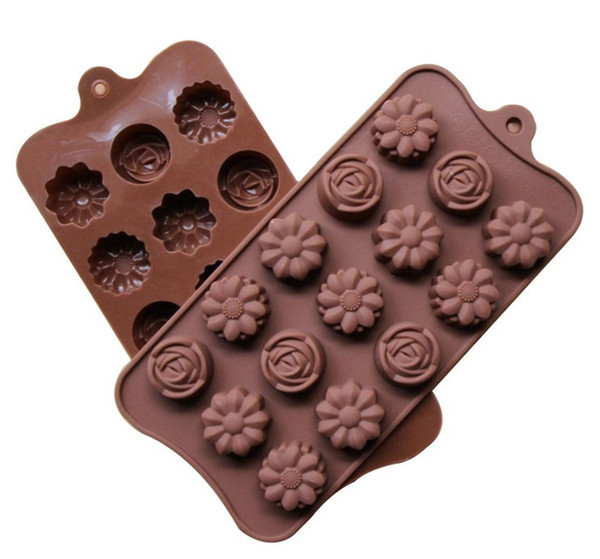 15 lattice 3D Silicone Numbers Fruit Chocolate Mold Candy Cookie Baking Fondant Mold Cake Decoration Tools Ice Cube mold B