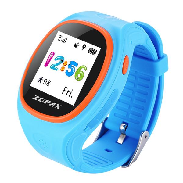 ZGPAX S886 Smart Kids GPS Tracking Watch APP Synchronisation en temps réel Moniteur SOS Appels Podomètre Mode GPRS LBS Pour Android IOS.