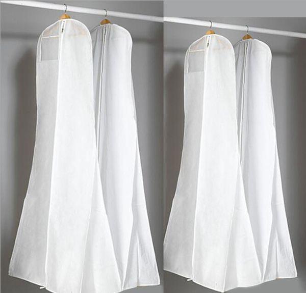 wholesale 100pcs Non-Woven Fabric & Plastic Wedding Dresses Garment Dust Proof Cover Bags Storage Bags For Clothes