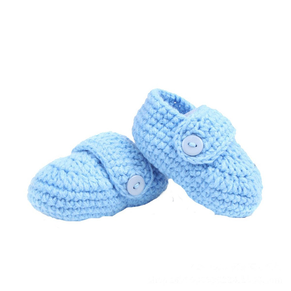 0 to 12 Months Baby Girls Shoes Handmade First Walkers Newborn Baby Infant Boys Girls Crochet Knit Toddler Shoes