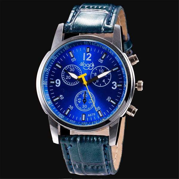 Cheap China Brand Sloggi Quartz Watches Fashion Men Leather Strap Watch Women Dress Wristwatches Blue Black Brown