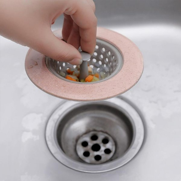 2019 Silicone Wheat Straw Kitchen Sink Strainer Bathroom Shower Drain Sink  Plug Cover Colander Sewer Hair Filter Strainer From Household_shop4, $0.75  ...