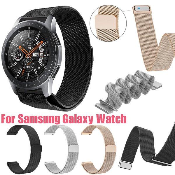 Fashion Milanese Magnetic Loop Edelstahl Magnetverschluss Replacemen Armband für Samsung Galaxy 42mm / 46mm Handschlaufe