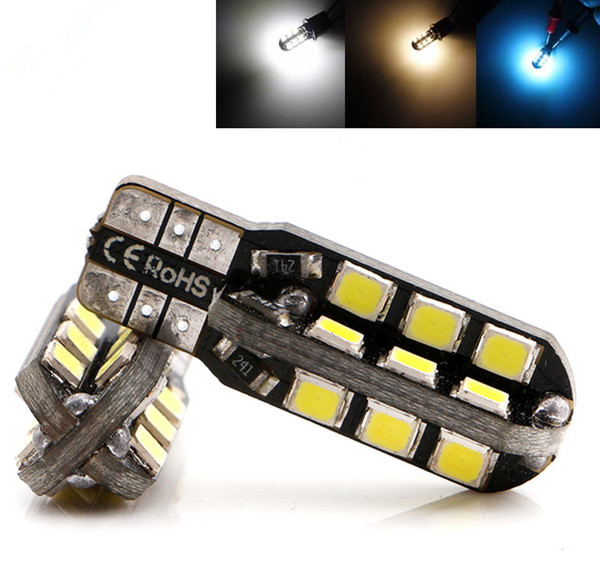 T10 W5W 147 Car Wedge LED Light 24 SMD 2835 Door Instrument Side Bulb Tail Lamp DC 12V White/Warm White/IceBlue