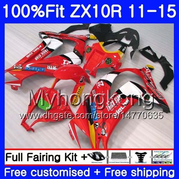 Injection For KAWASAKI NINJA ZX-10R ZX 10R 2011 2012 2013 2014 2015 glossy red frame 218HM.43 ZX 10 R 1000 CC ZX10R 11 12 13 14 15 Fairing